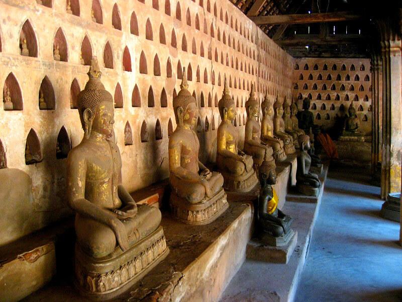 Backpacken in Laos reistips Wat Si Saket
