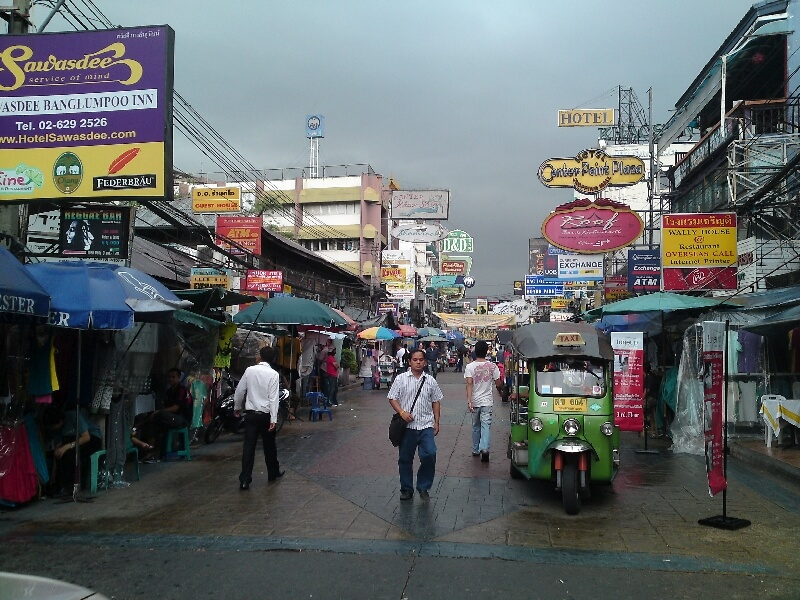 Backpacken in Thailand Khao San Road