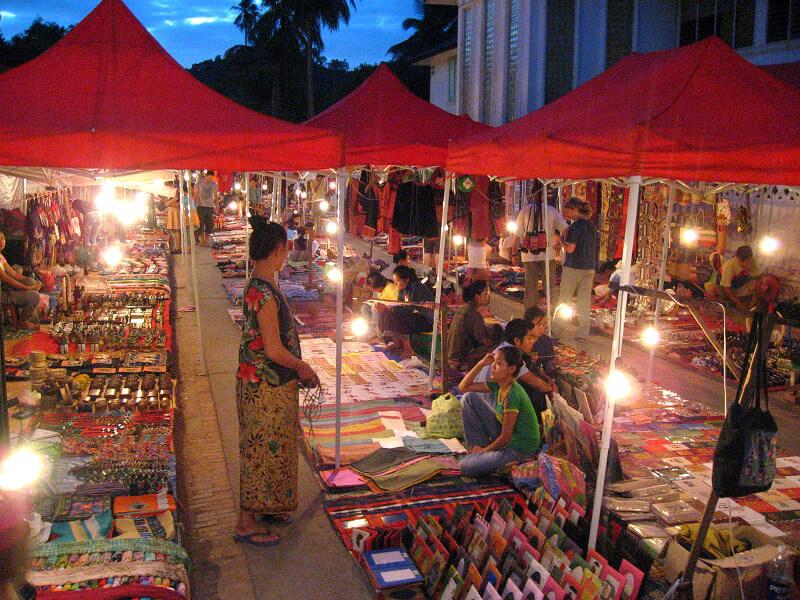 Luang Prabang nachtmarkt