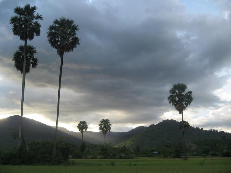 Het regenseizoen in Cambodja