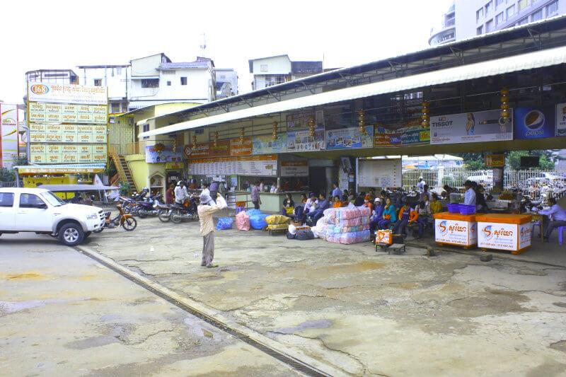 Busstation in Phnom Penh