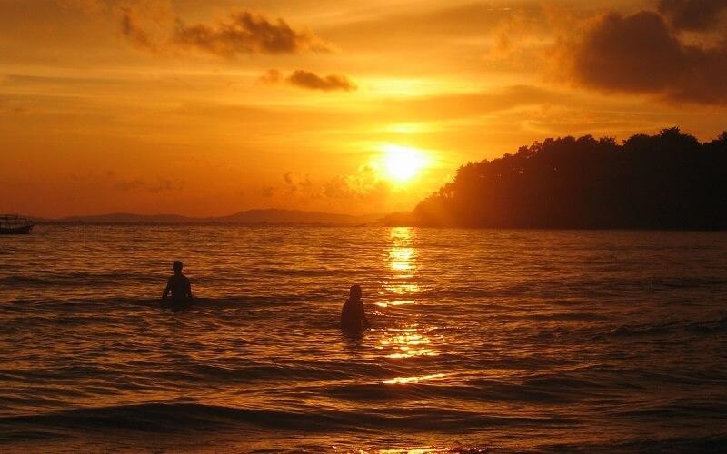 Sihanoukville zonsondergang