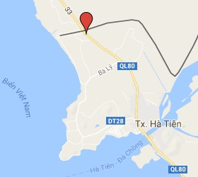 Grensovergang Prek Chak - Ha Tien