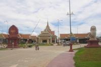 Grensovergangen in Cambodja