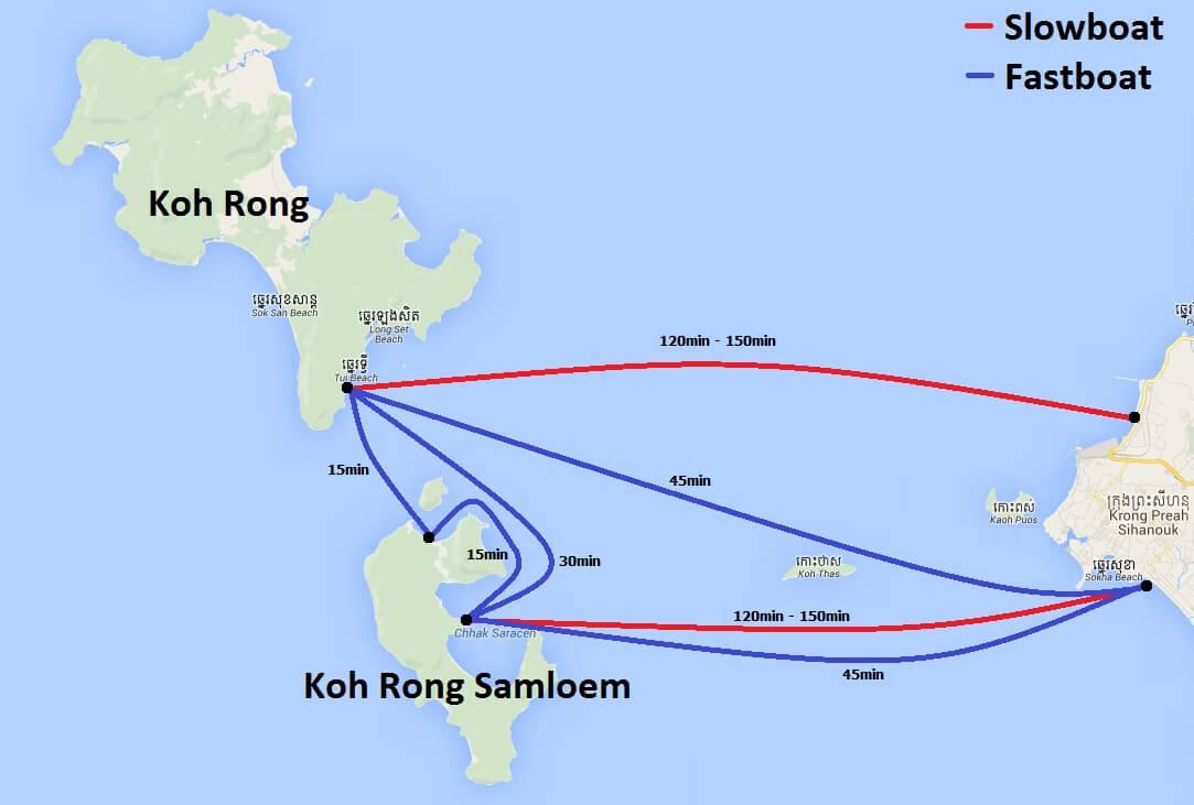 Koh Rong ferry schema