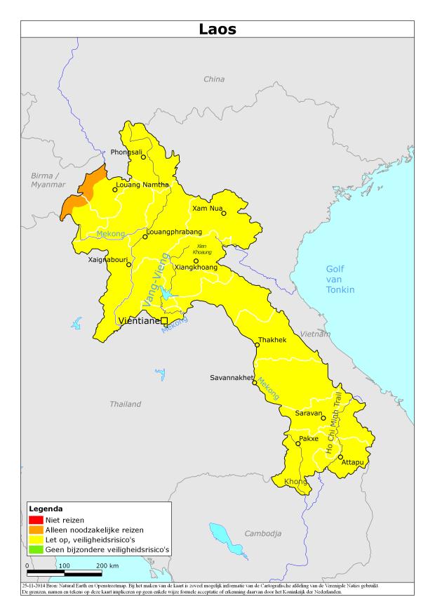Laos actueel reisadvies