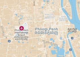 Phnom Penh vliegveld Pochentong
