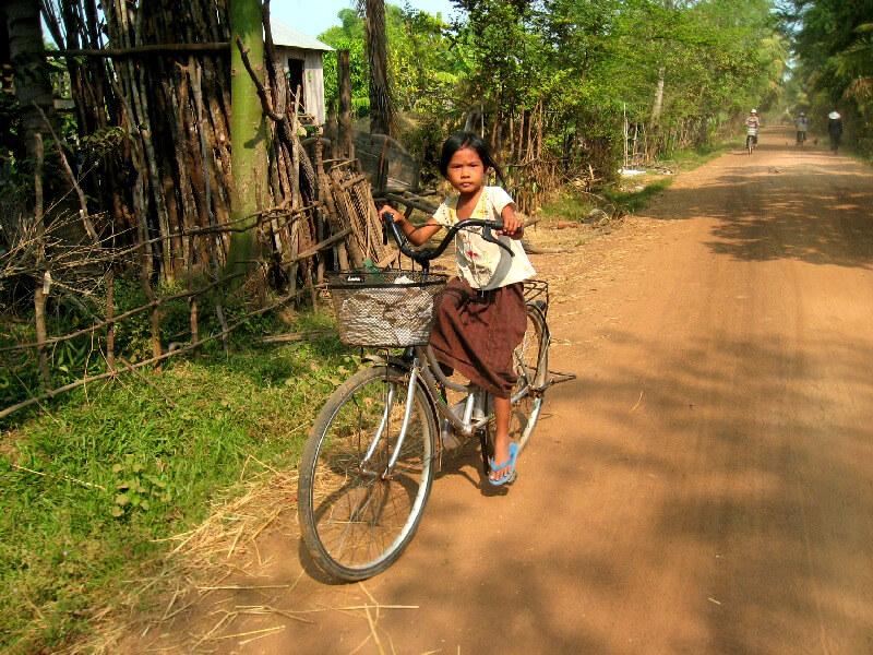 Backpacken Kampong Thom schoolmeisje