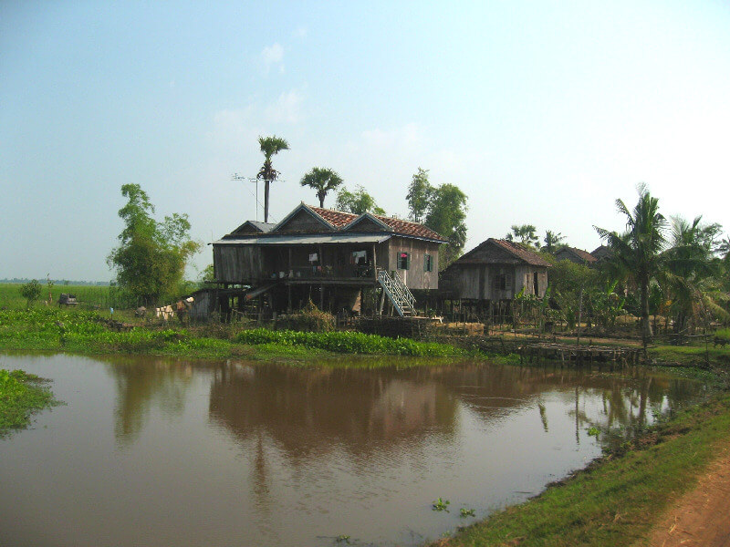 Backpacken Kampong Thom traditioneel Khmer huis