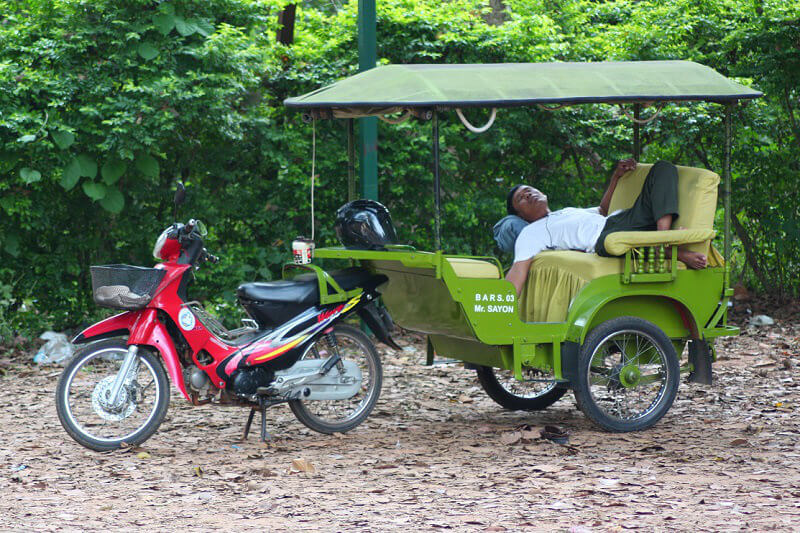 Tuk tuk in Cambodja