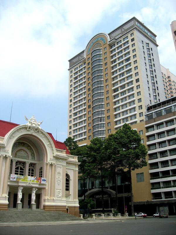 Backpacken Ho Chi Minh stad caravelle hotel