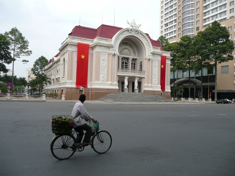 Backpacken Ho Chi Minh stad hotel de ville