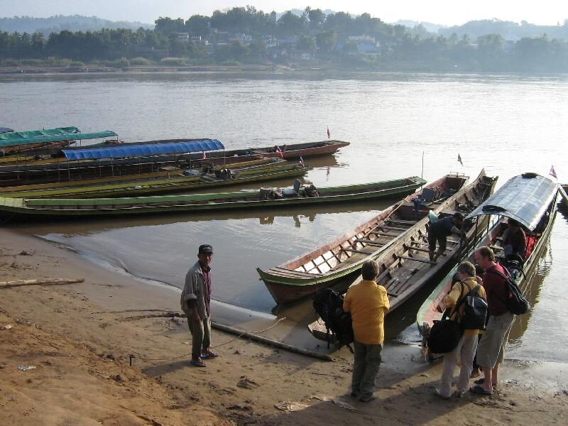 Ban Huay Xai Mekong rivier oversteken