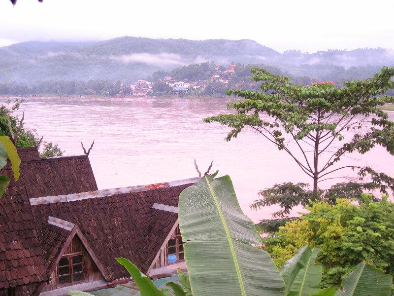 Uitzicht op Ban Huay Xai