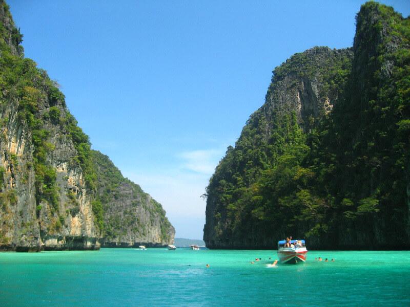 Backpacken Koh Phi Phi Loh Samah Bay snorkelen