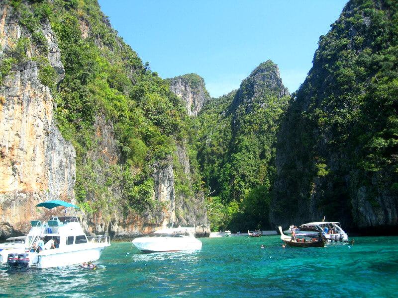 Backpacken Koh Phi Phi Leh snorkelen Loh Samah Bay