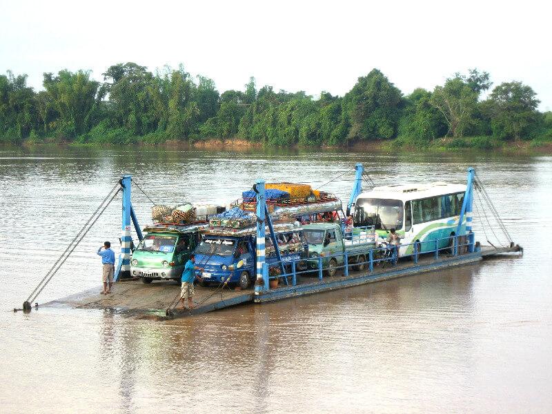 Backpacken Laos Si Phan ferry