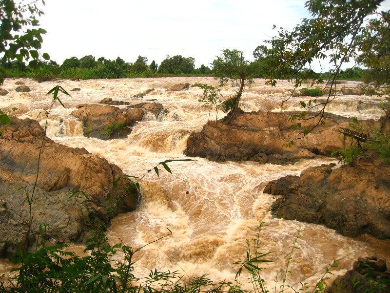 Backpacken Laos Khone Phapheng watervallen
