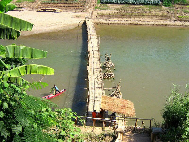 Backpacken in Laos Nam Khan rivier
