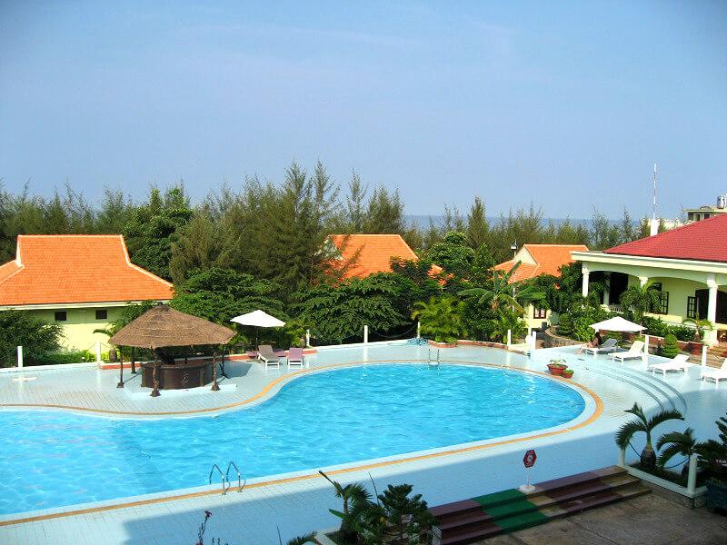 Backpacken Vietnam Phu Quoc hotel zwembad