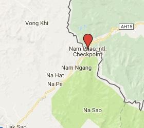 Grensovergang Nam Phao - Cau Treo Laos - Vietnam