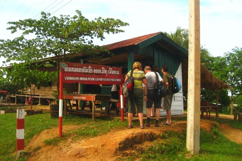 Grensovergangen in Laos