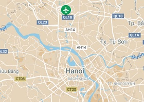 Hanoi vliegveld Noi Bai