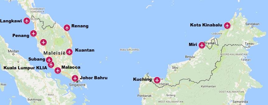 Internationale vliegvelden in Maleisië