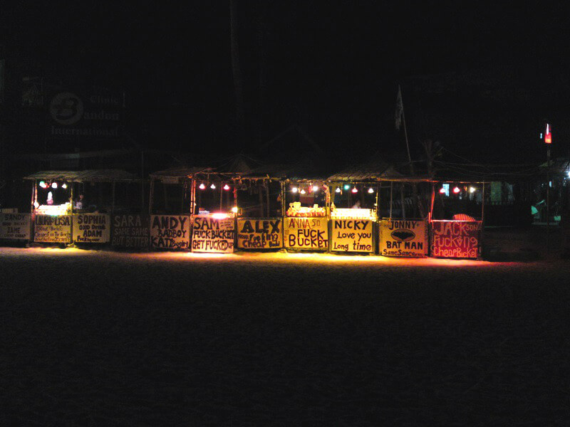 Koh Phangan reistips full-moon party bar