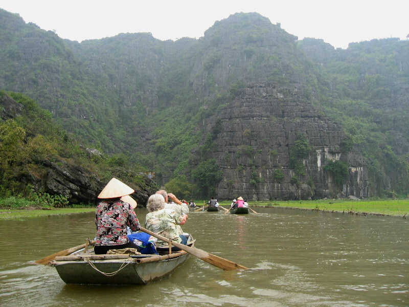 Reistips backpacken Ninh Binh varen