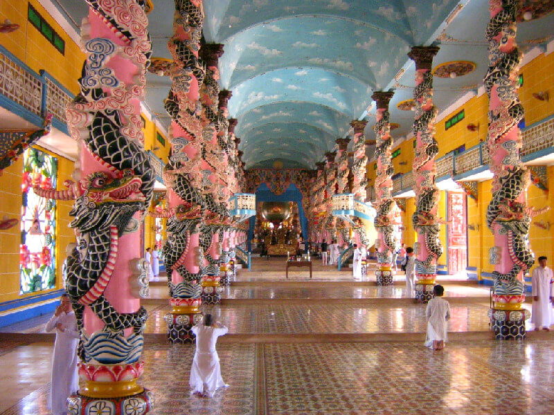 Reistips backpacken Tay Ninh Cao Dai tempel