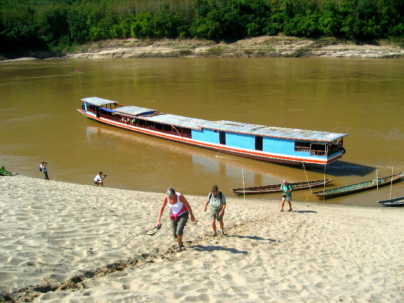 Vervoer in Laos slow boat