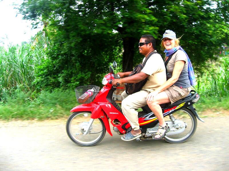Vervoer in Laos motorbike