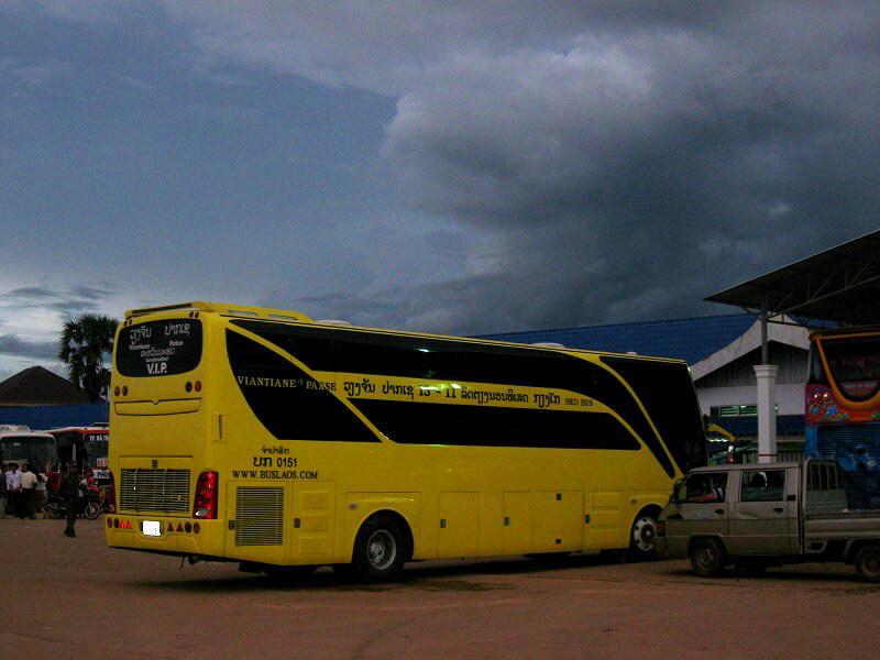Vervoer in Laos nachtbus