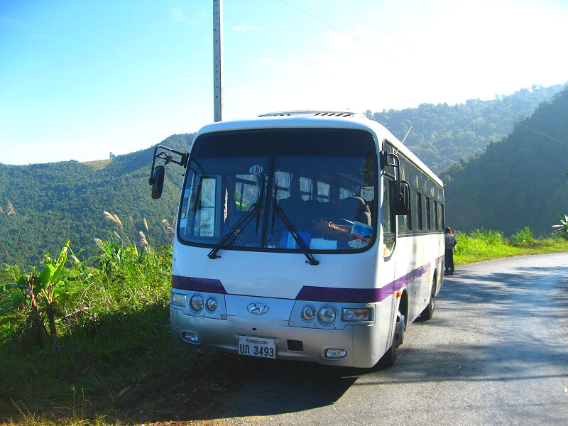 Vervoer in Laos bus