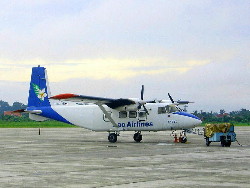 Vervoer in Laos vliegtuig