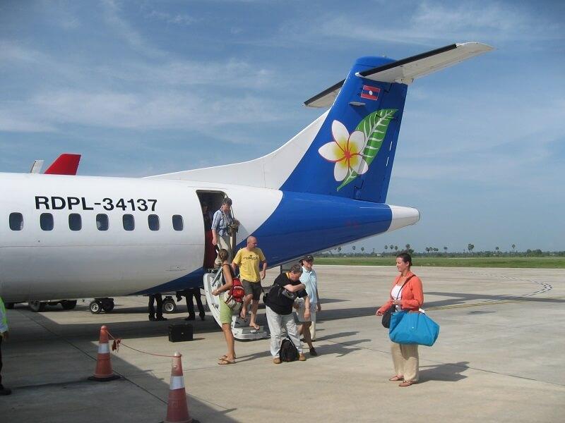 Vervoer in Laos vliegveld Pakse
