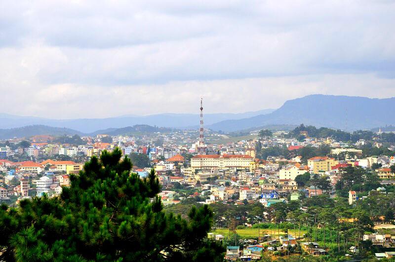 Da Lat Uitzicht op de stad