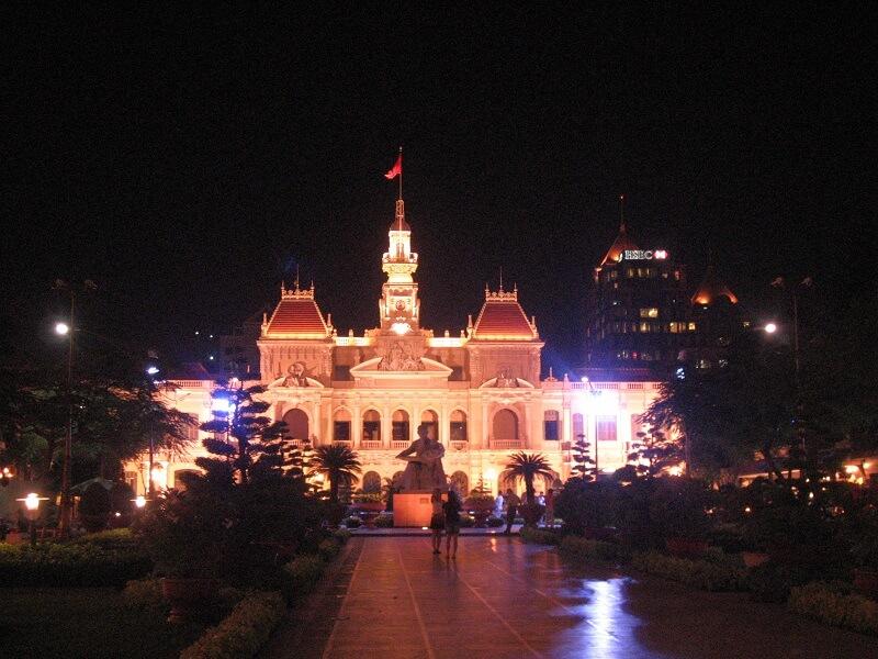 Backpacken Ho Chi Minh stad gemeentehuis