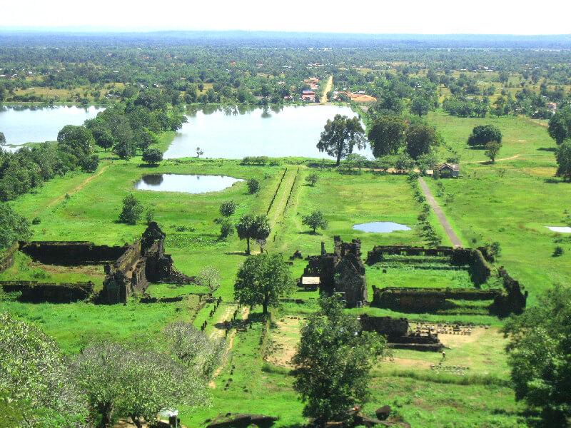 Reistips backpacken Wat Phu Champasak uitzicht