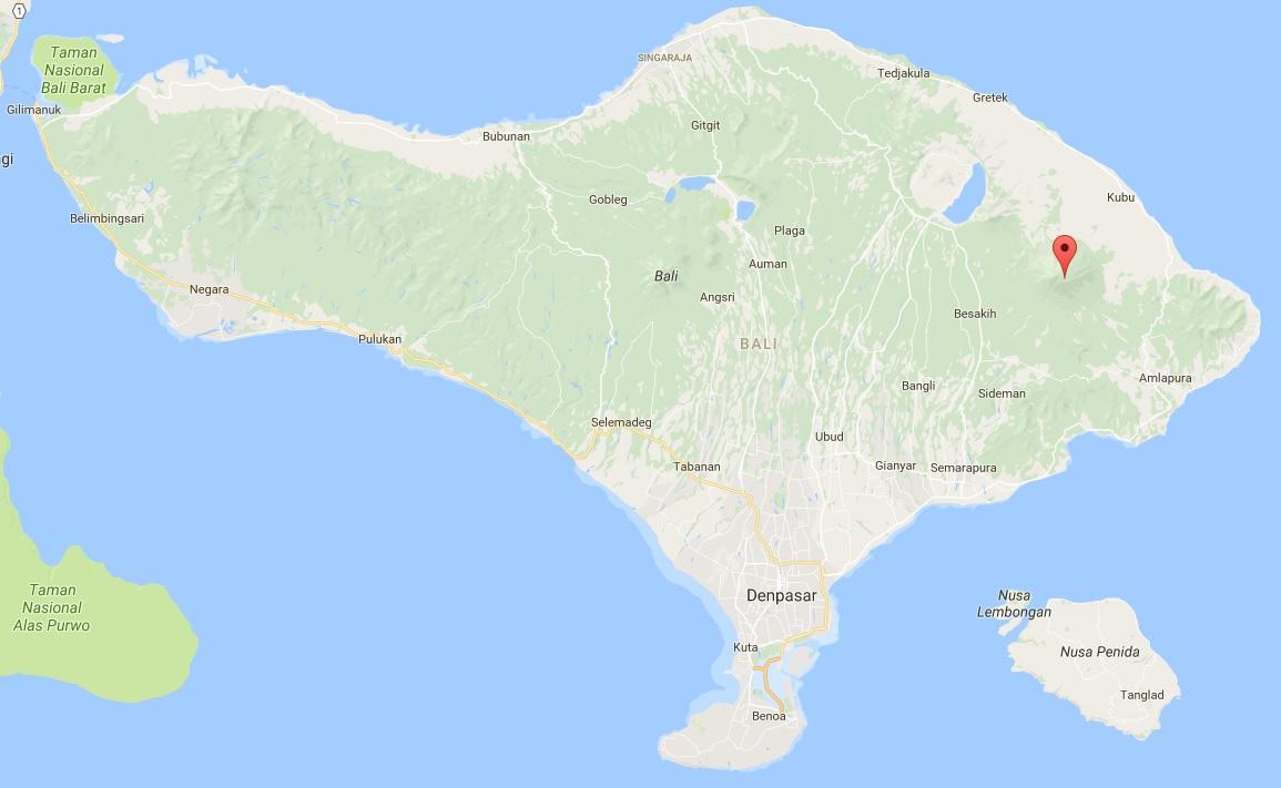 Agung vulkaan op Bali