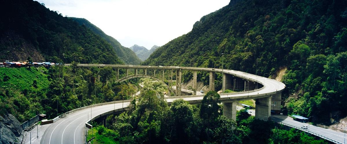 Grensovergangen in Indonesie