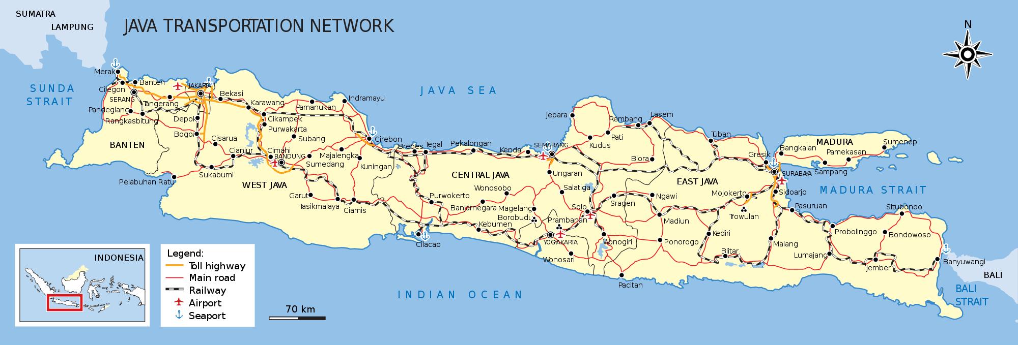 Spoornetwerk Indonesie