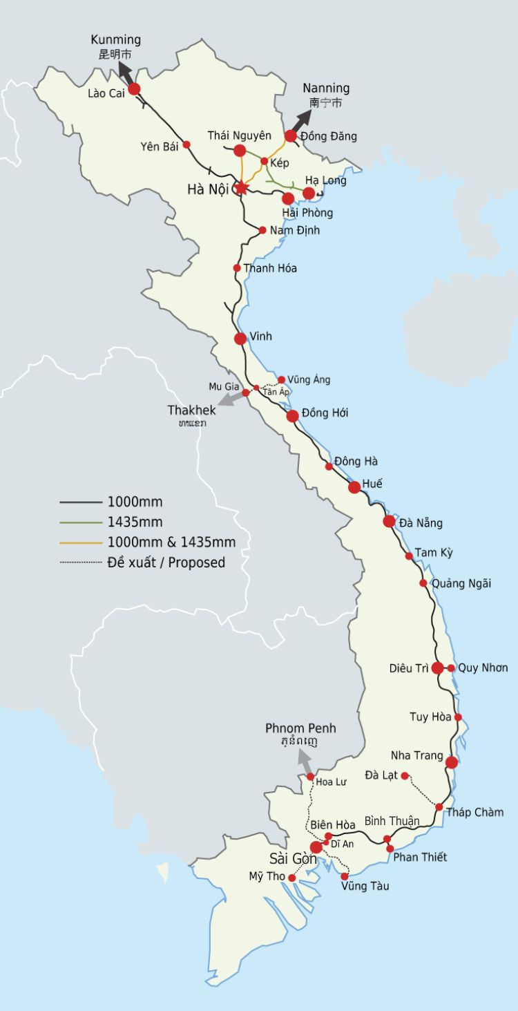 Spoorwegnetwerk Vietnam