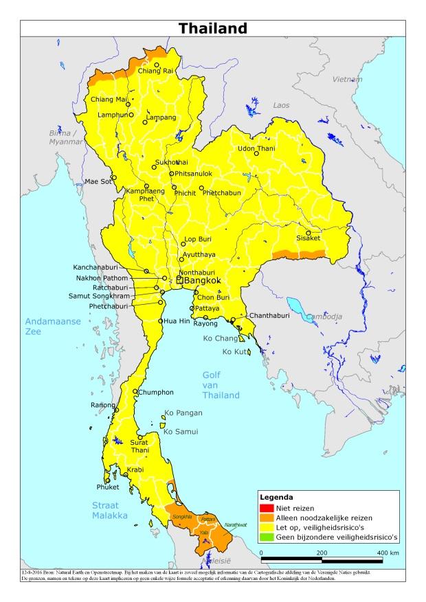 Actueel reisadvies Thailand na bomaanslagen augustus 2016