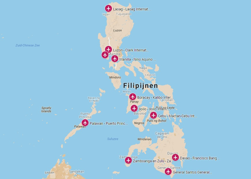 Internationale vliegvelden op de Filipijnen