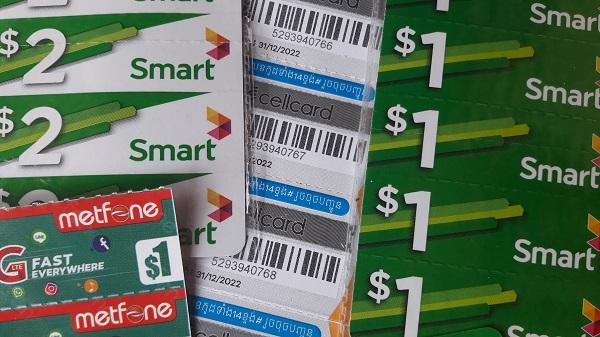 Bellen en internetten in Cambodja, simkaart