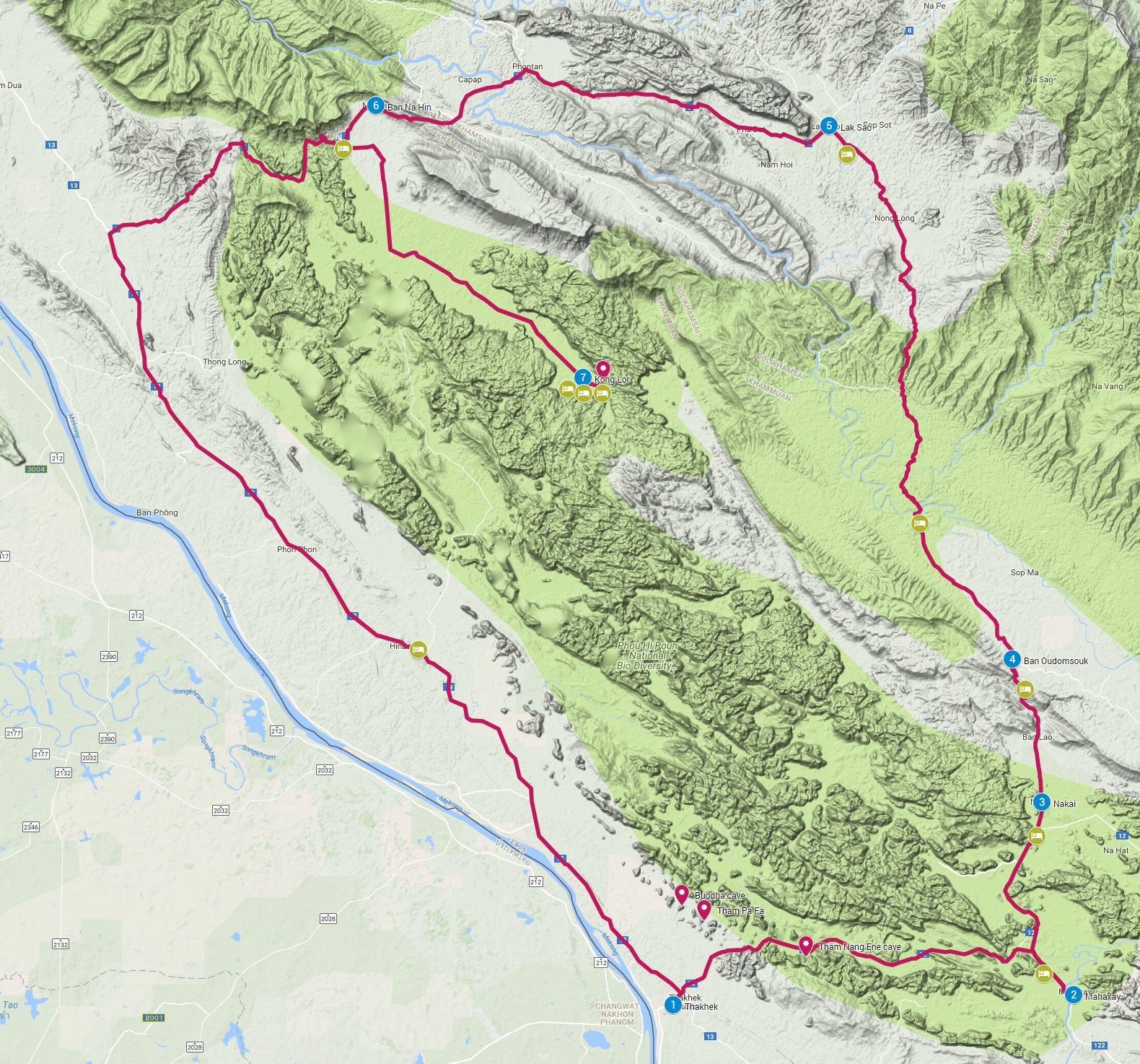 Thakhek the loop Laos route