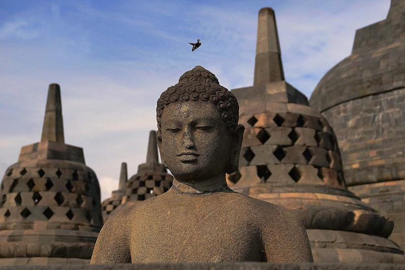 Borobudur tempel op Java