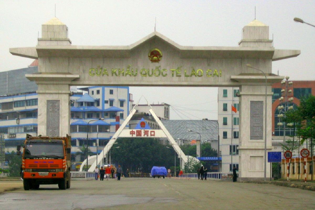 Grensovergangen in Vietnam